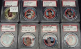 1971 Topps Coins Fosse, Pinson PSA 6 +, (7)