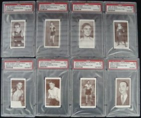 1938 Churchman Boxing Graded Cards (8)