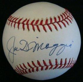 Joe DiMaggio Single Signed Baseball, JSA