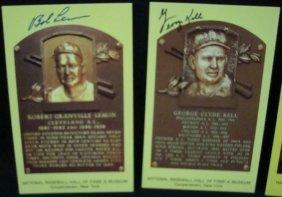 (3) Signed Cooperstown HOF Postcards, Lemon
