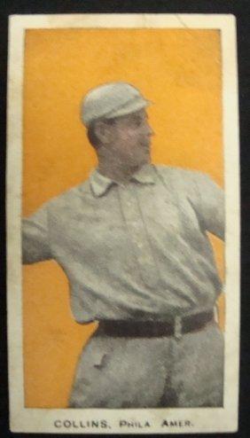 1910 E98 Eddie Collins, Orange Background