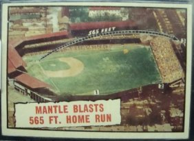 1961 Topps #406 Mickey Mantle Home Run Card