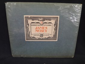 """James Mcbey """"modern Masters Of Etching #2"""" 1924 Book"""