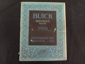 Buick Reference Guide For 1926 Standard Six, Master Six