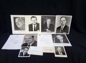 (11) Original Political Leaders Autographed