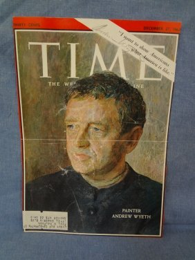 Andrew Wyeth Autographed Time Magazine Cover Loa From