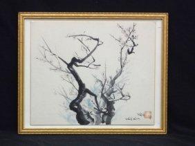 Miyo Barbero Cleveland Artist Sumi Painting Signed