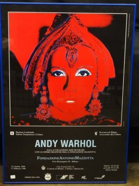 """Andy Warhol """"the Star"""" 1995 Exhibition Poster Framed"""