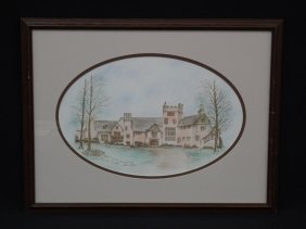 "Sue Chaffee Signed Lithograph ""stan Hywet Hall"" Artist"