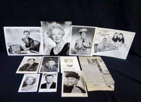 (11) Original Hollywood/entertainment Autographed