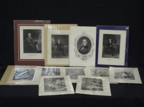 (13) Original 1800's Engravings High Society, And