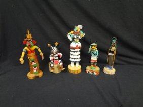 (5) Modern Original Hopi Native American Figural