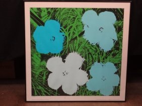 "Andy Warhol's ""flowers"" Serigraph Made By Nouvelles"