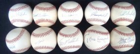 Lot Of (10) Single Signed Baseballs By World Series