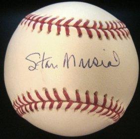 Stan Musial Single Signed Mlb Bud Selig Baseball