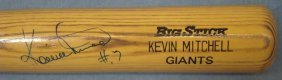 Kevin Mitchell Autographed 'giants' Rawlings Adirondack