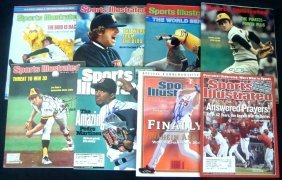 Lot Of (8) Signed 1970's+ Sports Illustrated Baseball