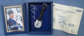 Tom Landry Limited Edition Fossil Watch And Autographed