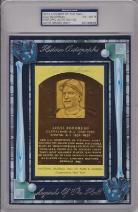 """Lou Boudreau Signed Limited Edition 2012 """"legends Of"""