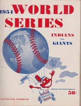 1954 Cleveland Indians World Series Program