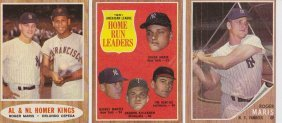 Lot Of (3) 1962 Topps Roger Maris Cards