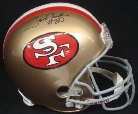 Jerry Rice Autographed Full Size 49ers Riddell Helmet