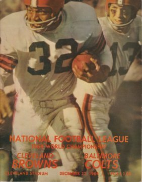 1964 Cleveland Browns World Championship Program