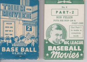 1937-38 Goudey Thumb Movies Parts 1 And 2 - Bob Feller