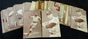 1947-1966 Baseball Exhibit Card Lot, W Stars - Mantle