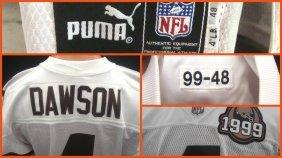 1999 Phil Dawson Game Worn Cleveland Browns Road Jersey