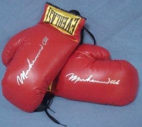 Muhammad Ali Signed Pair of Everlast Boxing Gloves