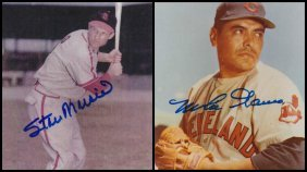 Stan Musial & Mike Garcia Signed Photographs
