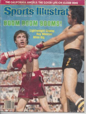 Ray Mancini Autographed 1982 Sports Illustrated