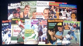 Lot Of (10) Autographed Sports Illustrated Magazine