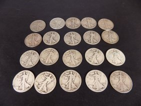 $10 Face Value Walking Liberty Half Dollars 90% Silver