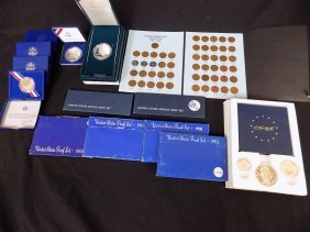 (9) United States Silver Sets, (4) Clad Sets, + Penny