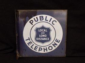 Vintage Bell System Public Telephone Flange Porcelain 2