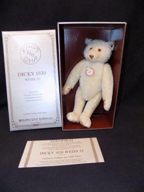 """Steiff 1992 Dickey Bear 13"""" 33 Cm Mohair 1933 Repro"""