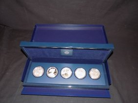 2011 American Silver Eagle 25th Anniversary 5 Coin Set