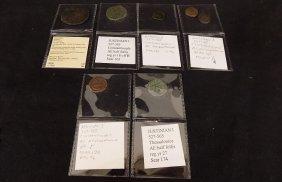 (7) Byzantine Coins. Justinian I. Ae Follis/decanummium