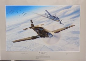 "Matthew Waki ""odds Of Valor†Aviation Art Signed By"
