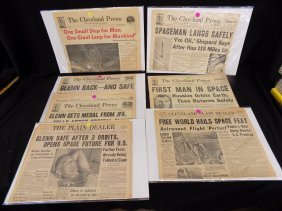 Historical Cleveland Plain Dealer/press Newspaper Lot
