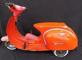 1960's National Vespa Super Rider Ride On Pedal
