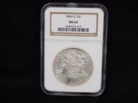 1884cc Morgan 90% Silver Dollar Carson City Graded Ngc
