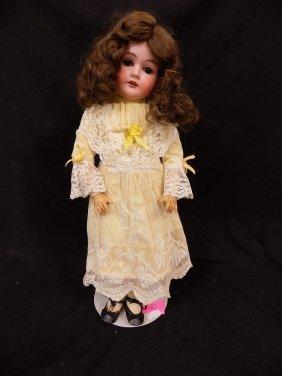"""Antique German 23"""" Doll: Cm Bergmann Waltershausen"""