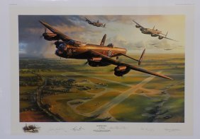 Bomber Force By Nicolas Trudgian #177/500 Signed By 4