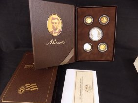 2009 Lincoln Coin And Chronicles 5-coin Proof Silver