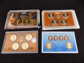 (4) Presidential Dollar Proof Sets 2007, 2014 +