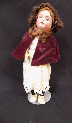 "20"" Made In Germany Bisque Head Kestner? 171 Doll"