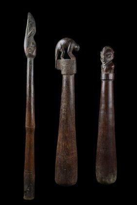 Two Pounder And Drum Stick - Papua New Guinea - Sepik
